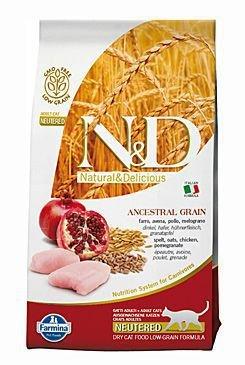 N&D Low Grain CAT Neutered Chicken & Pomegranate 1,5kg