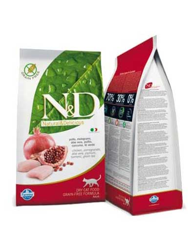 N&D Grain Free Cat Adult Chicken & Pomegr. 10kg