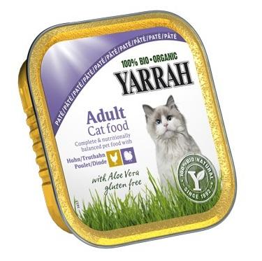 Yarrah BioPaté 100g kuře & krůta a aloe vera