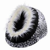 Pelíšek koule MINOU motiv sněžný leopard