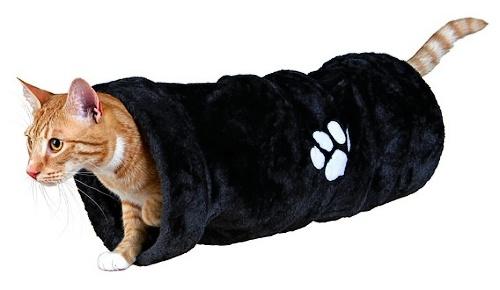 Plyšový tunel pro kočky 22x60cm