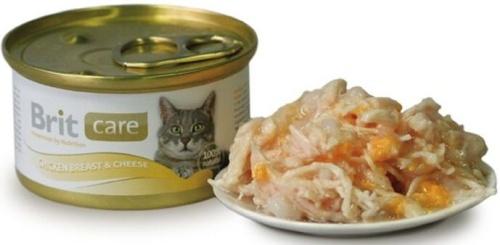 BRIT CARE Cat 80g kuřecí prsa + sýr
