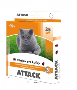 Antiparazitní obojek Attack 35cm