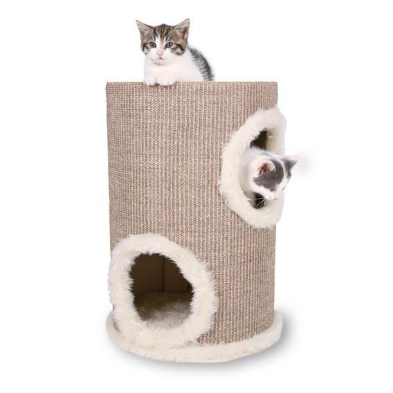 Škrábací věž s pelíšky a hračkou