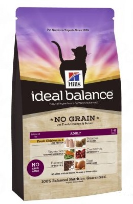 Hill's Feline Ideal B. NO GRAIN 2kg kuře a brambory