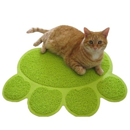 PVC předložka k WC pro kočky zelená