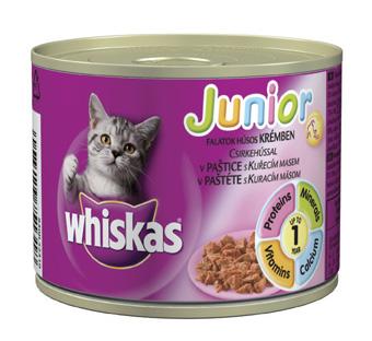 Whiskas Junior 195g kuřecí maso