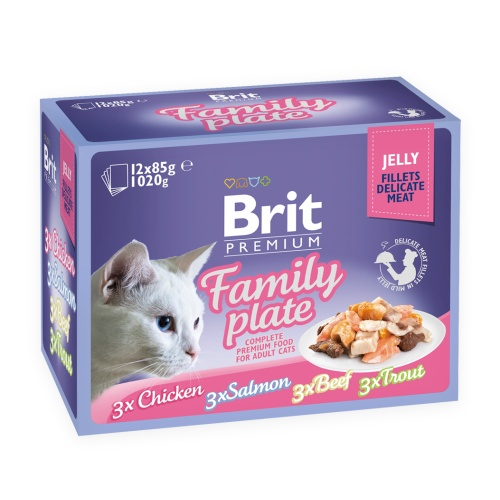 Brit Premium Cat Fillets in Jelly Dinner Plate 12x85g
