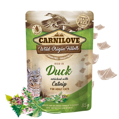 Carnilove Cat Pouch Duck Enriched & Catnip 85g