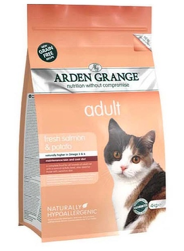 Arden Grange Cat Adult fresh salmon & potato 8kg