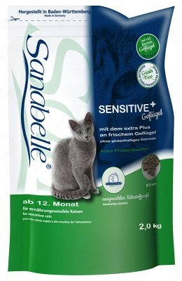 SANABELLE Adult Sensitive s drůbežím 2kg