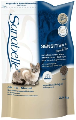 SANABELLE Adult Sensitive s jehněčím 400g