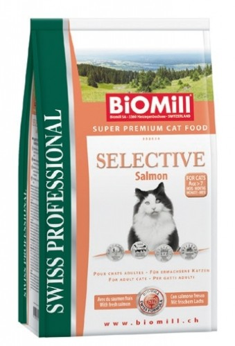 BIOMILL Cat Selective Salmon 1,5kg