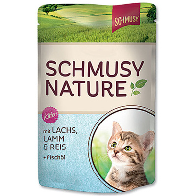 SCHMUSY Nature´s Menu Junior 100g losos, jehně