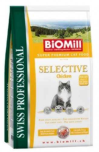 BIOMILL Cat Selective Chicken 1,5kg