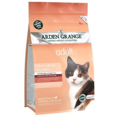Arden Grange Cat Adult fresh salmon & potato 400g