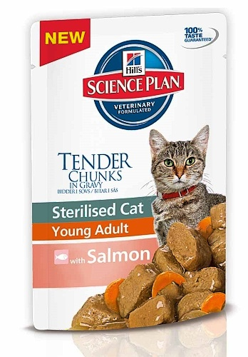 Hill's Feline Adult Young Sterilised Salmon 85g