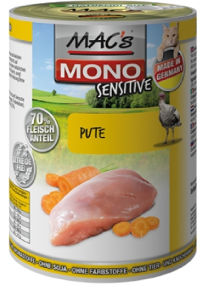 MACs Cat MONO Sensitive 200g krůta, mrkev