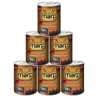 Marp Pure Beef CAT Can Food 6x400g