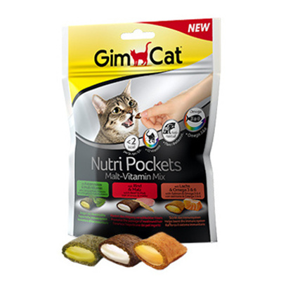 GimCat Nutri Pockets Malt-Vitamin Mix 150g