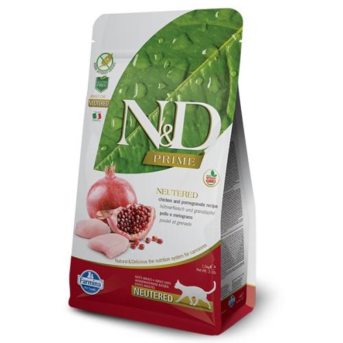 N&D PRIME CAT NEUTERED Chicken & Pomegranate 5kg