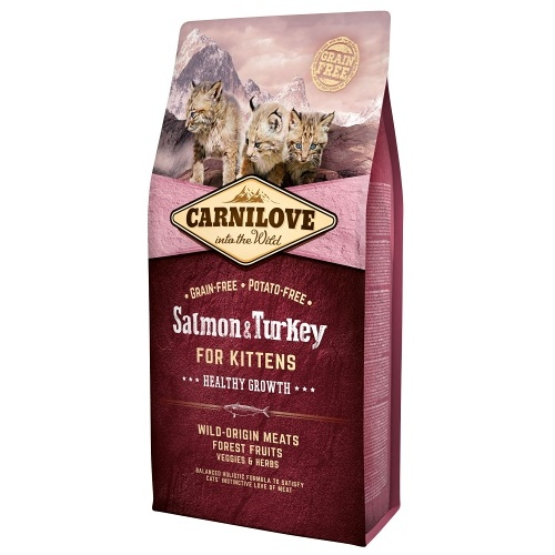 Carnilove Cat Salmon & Turkey for Kittens 6kg