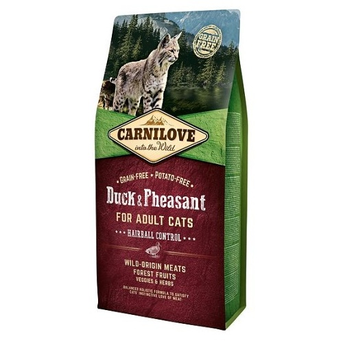 Carnilove Cat Duck Adult Hairball Control 6kg