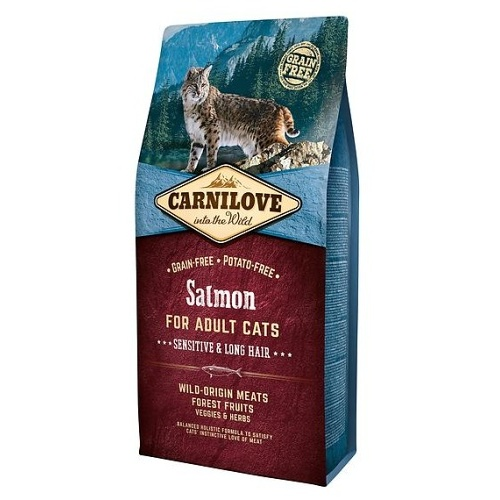 Carnilove Salmon for Adult Sensitiv & Long Hair 6kg
