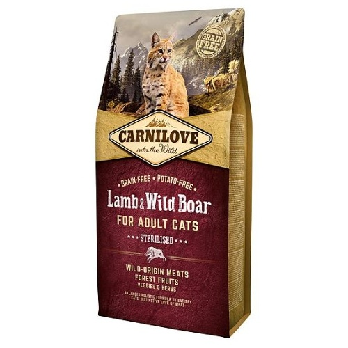 Carnilove Lamb & Wild Boar Adult Sterilised 6kg