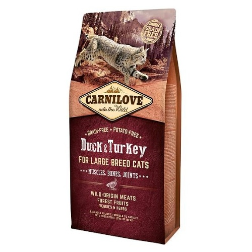 Carnilove Cat Duck & Turkey Large Breed 6kg
