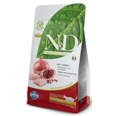 N&D Grain Free CAT NEUTERED Chicken&Pomegr. 10kg