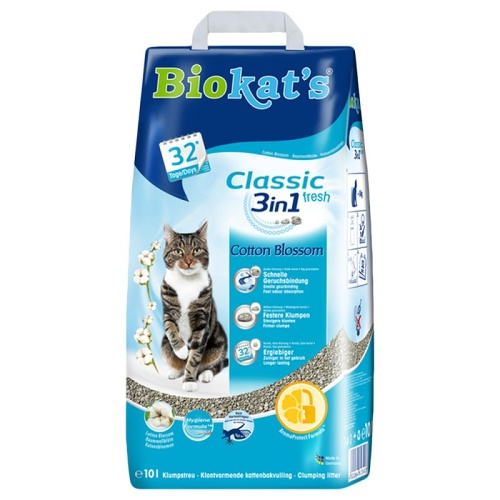 Biokat's Classic Fresh 3in1 Cotton Blossom 10kg