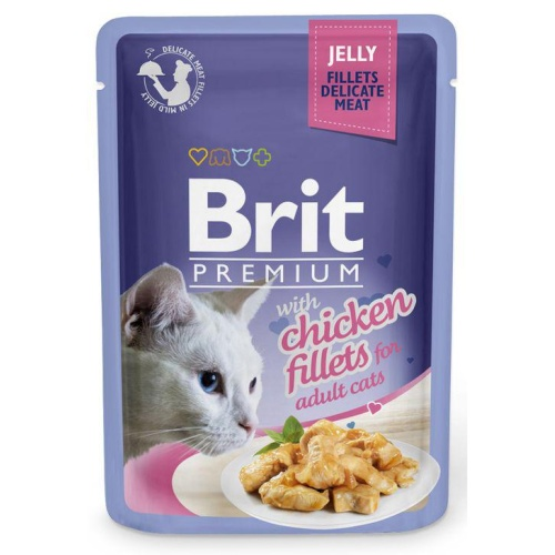 Brit Premium Cat Fillets in Jelly with Chicken 85g