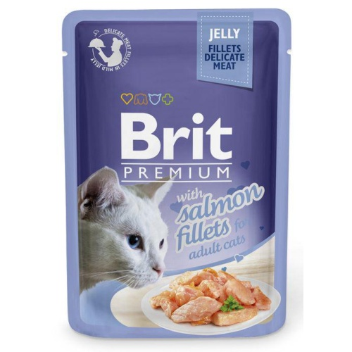 Brit Premium Cat Fillets in Jelly with Salmon 85g