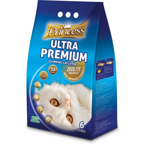 Princess Ultra Premium Cat Litter Zeolite Baby Powder 12l