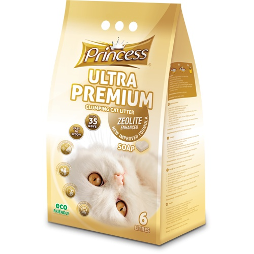 Princess Ultra Premium Cat Litter Zeolite Soap 12l