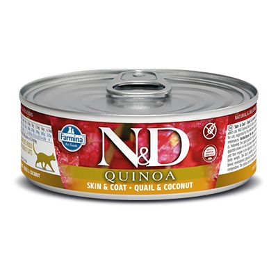 N&D CAT QUINOA Adult Skin&Coat Quail & Coconut 80g