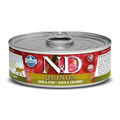 N&D CAT QUINOA Adult Skin&Coat Duck & Coconut 80g