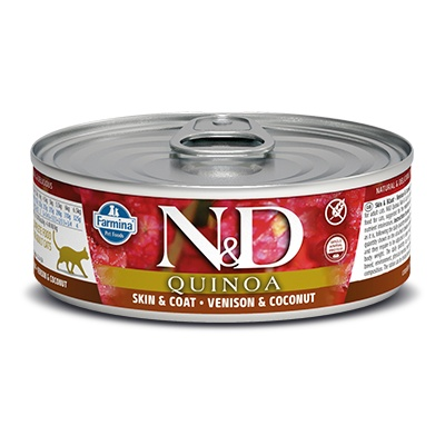 N&D CAT QUINOA Adult Skin&Coat Venison & Coconut 80g