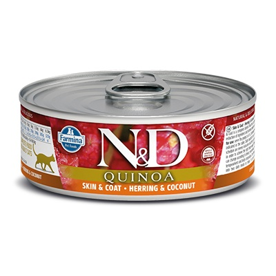 N&D CAT QUINOA Adult Skin&Coat Herring & Coconut 80g